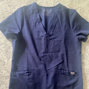 Figs Navy Blue Casma Scrub top size Medium